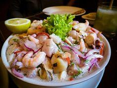 Ceviche de mariscos chilenos
