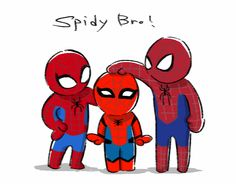 Spider-Man (Tobey Maguire), The Amazing Spider-Man (Andrew Garfield) and Spider-Man (Tom Holland)