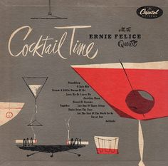 Loooove mid-century graphic design. All those crazy angles! Cocktail Time