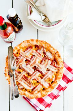 Whoa. Check out this Bacon Mac & Cheese Pie.