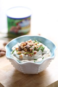 Let the snacking begin! This cream cheese dip is the perfect blend of asian seasoning.  The Wasabi Soy Nuts give this dip the perfect blend of textures and flavors! lemonsforlulu.com #GameChangingSnacks