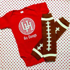 University of Houston Football Shirt and Leg by sunfirecreative, $35.00