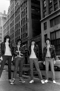 Ramones, in New York City, 1981 Marky Ramone, Joey Ramone, Dee Dee Ramone, and Johnny Ramone Photo by Ebet Roberts. Hey Ho Lets Go, Joey Ramone, Dee Dee, Ramones, New York City, Angels, New York, Angel, Nyc