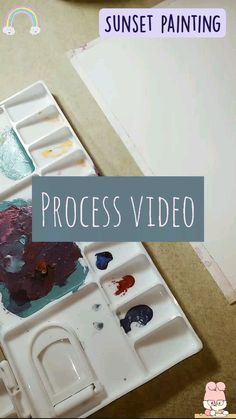 Painting Process, Painting & Drawing, Watercolor Landscape, Watercolor Flowers, Fun Crafts, Diy And Crafts, Galaxy Painting, Aesthetic Videos, Meme