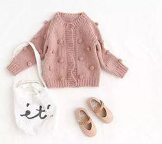 Luxury Pom Pom knitted cardigan | Ohmybabybaby