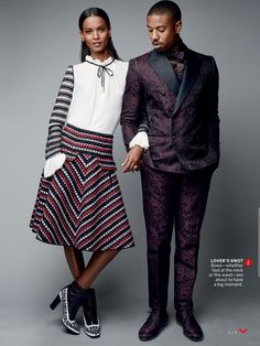 "Duchess Dior: ""Heart & Soul"" Liya Kebede and Michael B. Jordan for Vogue US August 2015"