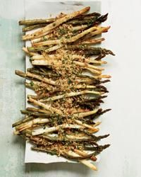 Roasted Asparagus with Lemony Bread Crumbs | Spears of roasted ...