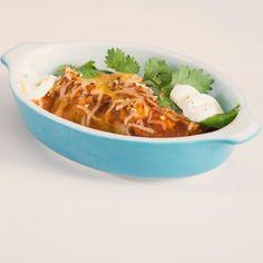 Spicy Chicken Enchiladas with Red Mole Sauce #AllstarsSwanson #WhyICook