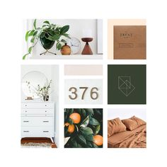 Modern with a vintage flair moodboard | Foxwood Studio