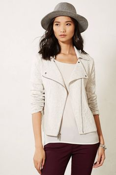 """- By Saturday/Sunday - Two outer pockets - Zip front - Cotton, polyester, spandex - Machine wash - Regular: 21""""L - Petite: 20""""L - Imported"""