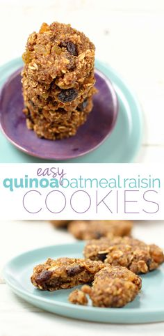 Quinoa Oatmeal Raisin  cookies...need to try these with a different flour than it calls for