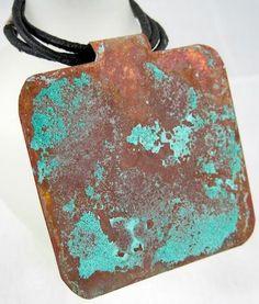 DIY Tutorial - use vinegar and salt to create a verdigris patina on copper