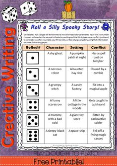 Roll a Silly Spooky Story - Playdough To Plato