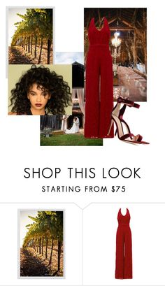 """""""Untitled #305"""" by epa1412 on Polyvore featuring Pottery Barn, Gianvito Rossi, napa, winerywedding, bestdressedguest and vineyardwedding"""