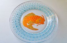 Check out this item in my Etsy shop https://www.etsy.com/listing/254883933/koi-fish-plate-sushi-plate-tattoo-design