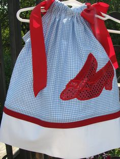 beautiful girls pillowcase dress ~ no pattern