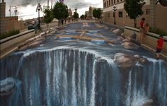 Amazing and Realistic Examples of 3D Street Painting