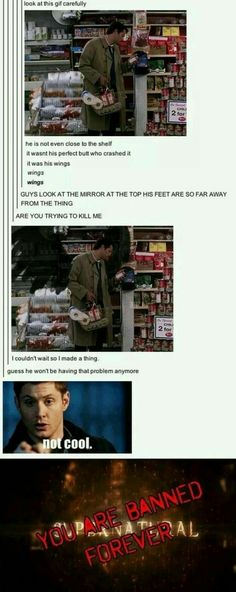 nO THIS IS NOT OKAY CHUCK GIVE CAS HIS WINGS BACK