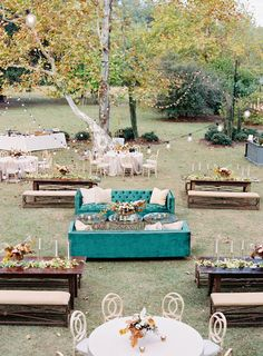 One Couple's Personalized Fall Wedding in South Carolina Martha Stewart Real Weddings Small Wedding Receptions, Cocktail Wedding Reception, Wedding Reception Seating, Wedding Lounge, Small Outdoor Weddings, Unique Wedding Reception Ideas, Wedding Ceremony, Elegant Backyard Wedding, Woodsy Wedding