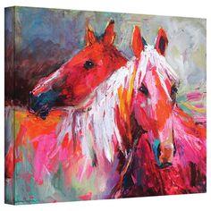 Svetlana Novikova 'Stallion Horses' Gallery-Wrapped Canvas Wall Art | Overstock.com Shopping - Top Rated ArtWall Canvas
