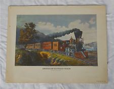 American Express Train Currier and Ives Print