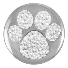 Ginger Snaps PAW PRINT SUGAR SNAP SN32-26 Interchangeable Jewelry Snap Accessory by The Good Bead, http://www.amazon.com/dp/B00DXGYYCS/ref=cm_sw_r_pi_dp_d7Hlsb02JAHXM