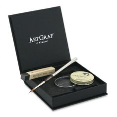 "Create a wide range of grays from deep black to transparent shades with revolutionary ArtGraf watersoluble graphite by Viarco. Viarco, a family owned business since 1907 located in northern Portugal, has developed unique blends of graphite and binders to produce some of the highest quality sketching materials available today. This graphite set includes a ArtGraf Graphite Tin (20 grams), one 3-1/2"" ArtGraf Graphite Stick and a size 4 pocket brush for use with both products. #giftideas"