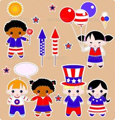 Fourth of July Children