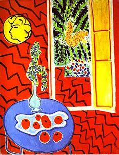 """Interior Vermelho"" (1947) Henri Matisse"