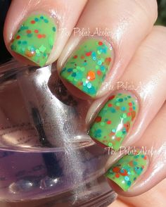 Lime Thief swatched by The PolishAholic http://www.thepolishaholic.com/2013/11/femme-fatale-swatches.html