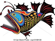 Vector - Fish. - stock illustration, royalty free illustrations, stock clip art icon, stock clipart icons, logo, line art, EPS picture, pictures, graphic, graphics, drawing, drawings, vector image, artwork, EPS vector art