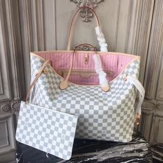 Louis Vuitton Damier Azur Neverfull GM with Pink Lining - Louis Vuitton Handbags Neverfull - Trending Louis Vuitton Handbags Neverfull - Louis Vuitton Damier Azur Neverfull GM with Pink Lining Louis Vuitton Rucksack, Louis Vuitton Nails, Louis Vuitton Taschen, Louis Vuitton Monograme, Vuitton Bag, Louis Vuitton Handbags, Louis Vuitton Gm Neverfull, Tote Bags, Lv Bags