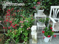 toprak ve ahşap: gri toprak saksı...küpeliler...bir sıcak bir soğuk... Decoupage, Outdoor Structures, Plants, Plant, Planets