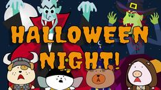 """The Singing Walrus presents """"Halloween Night"""" - a funky Halloween song for kids. Kids Halloween Songs, Halloween Gif, Halloween Activities, Halloween Night, Halloween Treats, Activities For Kids, Fun Songs, Kids Songs, She's A Witch"""