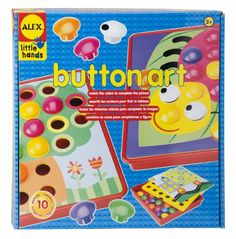 Amazon.com : ALEX® Toys - Early Learning Button Art -Little Hands 1408 : Childrens Jewelry Making Kits : Toys & Games