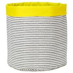 Reversible Canvas Bin Round Squiggle - Pillowfort™
