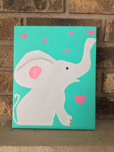 Acrylic painting, nursery art, child's room painting for sale in Etsy