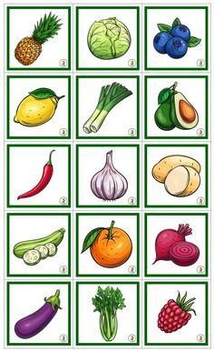 45 olika frukter/grönsaker i bild och ord Ord, Vegetables, Pictures, Vegetable Recipes, Veggies