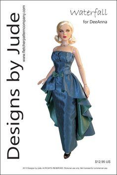Waterfall Pattern for DeeAnna Denton - logo holder Doll Dress Patterns, Barbie Patterns, Clothing Patterns, Sewing Patterns, Aurora Dress, Barbie Clothes, Barbie Dolls, Fashion Seasons, Vintage Barbie