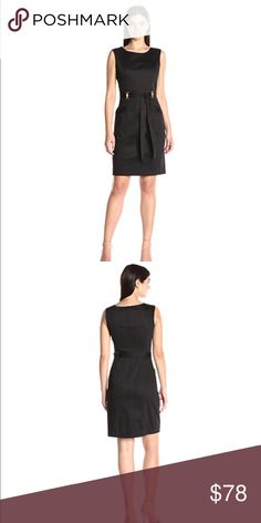 "Ellen Tracy - Belted Solid Shift Dress Ellen Tracy - Belted Solid Shift Dress size 4                        Approx. Length 36""  Armpit to Armpit 16"".                          Size 8 Approx Length 37"" Armpit to Armpit 17"" Ellen Tracy Dresses"