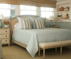 beige with blue and grey