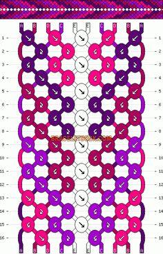 Normal Friendship Bracelet Pattern #11341 - BraceletBook.com