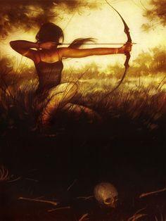 Tomb Raider - Lara Croft by Sam Wolfe Connelly * Fantasy Girl, Fantasy Warrior, Tomb Raider Game, Tomb Raider Lara Croft, New Fine Arts, Rise Of The Tomb, Fanart, Game Art, Illustration Art