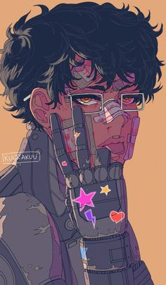 Bleh//// It's Tao! One day I will draw something other than just portraits of him I swear. Posting this… Arte Cyberpunk, Cyberpunk 2077, Art And Illustration, Dark Art Illustrations, Pretty Art, Cute Art, Arte Inspo, Arte Dope, Arte Do Kawaii