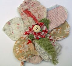 Fabric Flower Brooch/ Fabric Flower Wall Piece by MandyPattullo, £12.50