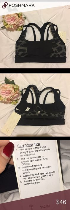 Lululemon sports bra The Splendour bra by Lululemon. Size: 6 lululemon athletica Intimates & Sleepwear Bras
