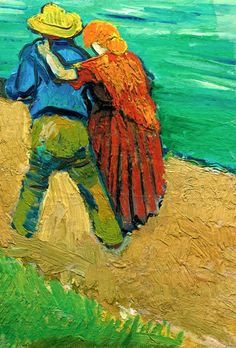off Hand made oil painting reproduction of Two Lovers (Fragment), one of the most famous paintings by Vincent Van Gogh. The story behind the painting Two Lovers, made by Vincent Van Gogh was and still is a mystery. In March of the art. Art Van, Van Gogh Art, Vincent Van Gogh, Van Gogh Pinturas, Van Gogh Quotes, Van Gogh Paintings, Dutch Artists, Henri Matisse, Claude Monet