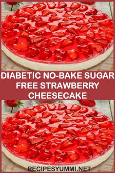 Diabetic No-Bake Sugar Free Strawberry Cheesecake Diabetiker No-Bake Sugar Free Erdbeer-Käsekuchen Diabetic Deserts, Diabetic Friendly Desserts, Diabetic Snacks, Low Carb Desserts, Diabetic Cake Recipes, Strawberry Recipes Diabetic, Diabetic Breakfast Recipes, Pre Diabetic, Sugar Free No Bake Desserts