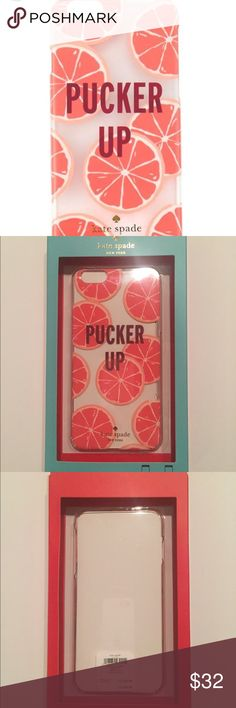 *Kate Spade* Kate Spade iPhone PLUS pucker up cell phone case, brand new with tags kate spade Accessories Phone Cases