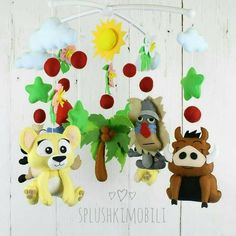 Mobile baby nursery mobile Lion King felt mobile baby animals mobile baby woodland crib mobile cot m Travel Theme Nursery, Baby Boy Nursery Decor, Woodland Nursery Decor, Nursery Themes, Cot Mobile, Baby Crib Mobile, Lion King Nursery, Adventure Nursery, Newborn Toys